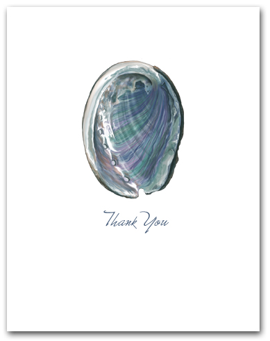 Abalone Interior Nacre Small Thank You Vertical Larger