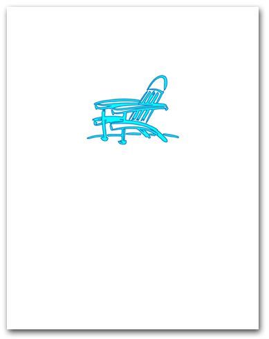 Bright Blue Adirondack Beach Chair Larger