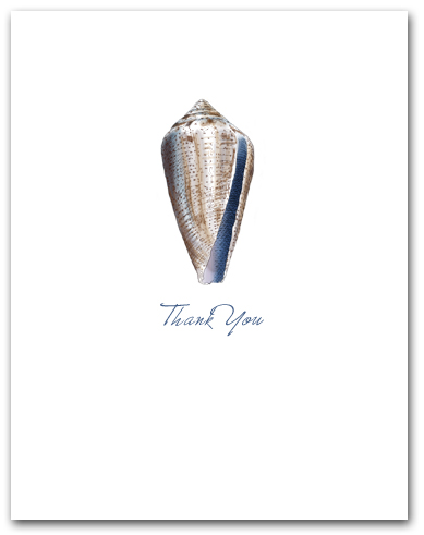 Cone Blue Brown Pattern Small Thank You Vertical Larger