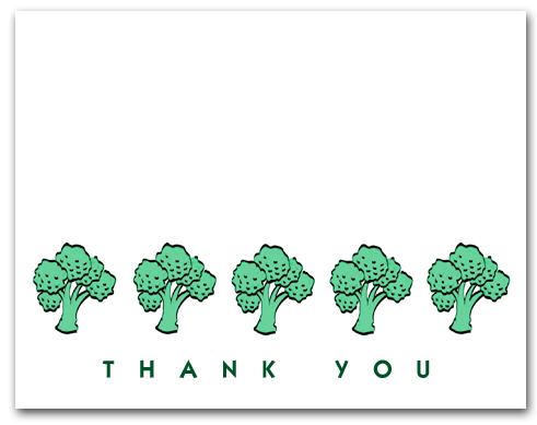 Five Broccoli Row Thank You Larger