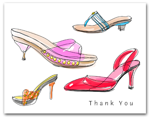 Four Colorful Straps High Heeled Woman�s Shoes Thank You Larger