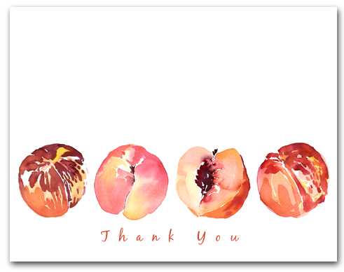 Four Peaches Row Thank You Larger