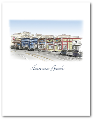 Hermosa Beach California Historic Pier Avenue Stores Small Vertical Larger