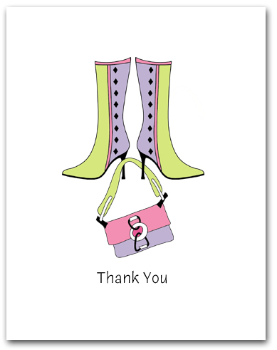 Pair Lavender Light Green Boots Dangling Matching Purse Thank You Larger