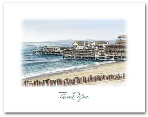 Redondo Beach California Small Thank You Horizontal Larger