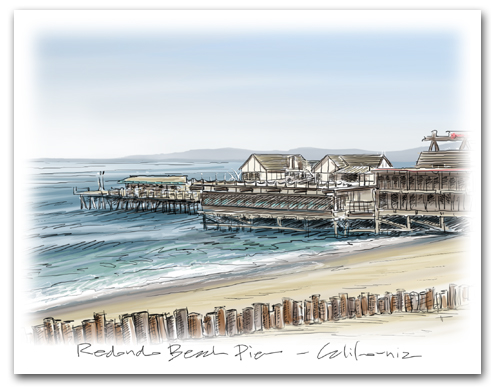 Redondo Beach Pier California Large Horizontal Larger
