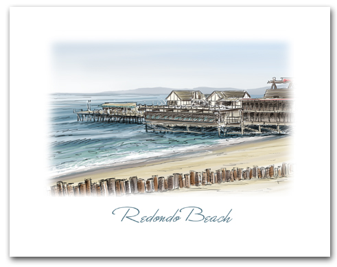 Redondo Beach Pier California Small Horizontal Larger