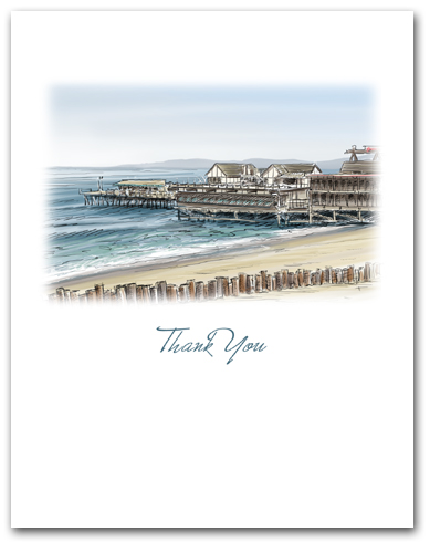 Redondo Beach Pier California Small Thank You Vertical Larger