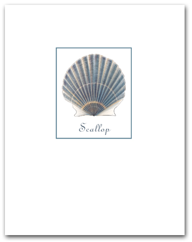 Scallop Blue Small with Name Vertical Larger