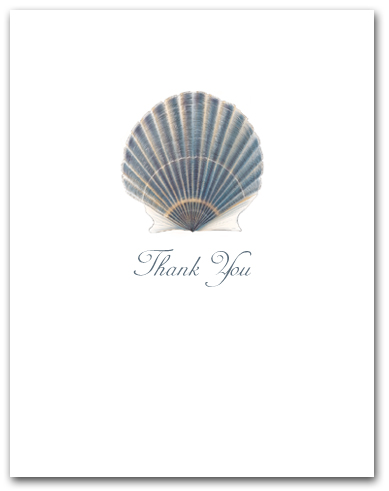Scallop Blue Small Thank You Vertical Larger
