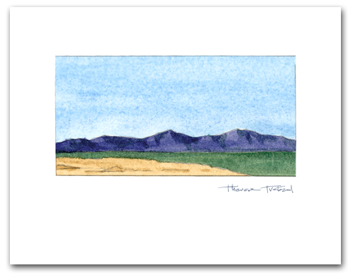Simple Mountains Desert Landscape Small Horizontal Larger