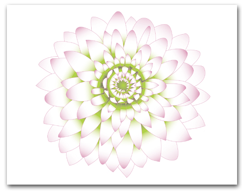 Single Light Pink Dahlia Green Center Larger