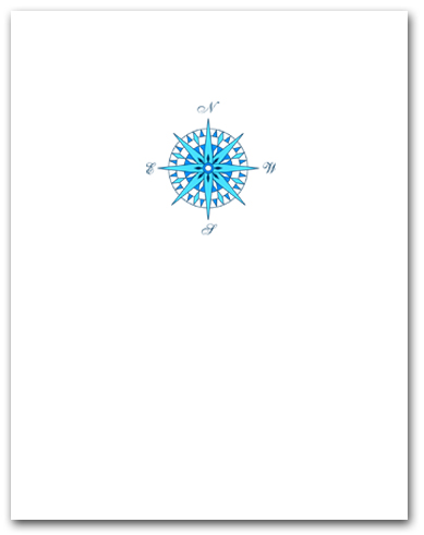 Small Blue Compass Rose Larger