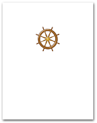 Small Brown Helm Ship Steering Wheel Larger
