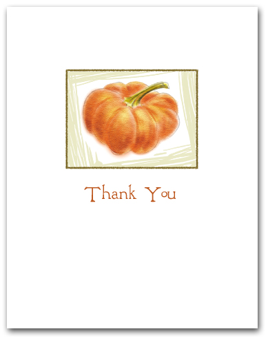 Small Pumpkin in Box Thank You Larger