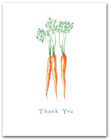 Three Carrot Bunch Thank You Larger