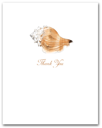 Whelk White Tan Small Thank You Vertical Larger