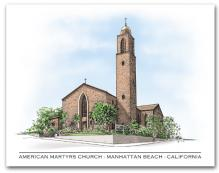 American Martyrs Church Manhattan Beach California Architectural Rendering Type Horizontal