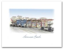 Hermosa Beach California Historic Pier Avenue Stores Small Horizontal