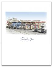 Hermosa Beach California Historic Pier Avenue Stores Small Thank You Vertical