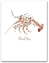 Lobster Small Watercolor Thank You