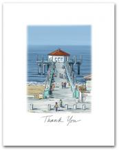 Manhattan Beach Pier California West Pacific Ocean Small Script Thank You Vertical