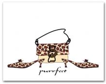 Matching Woman�s Leopard Dress Shoes Purse Purrfect