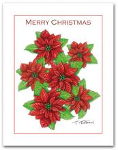 Multiple Poinsettia Merry Christmas