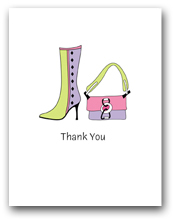 One Lavender Light Green Boot and Matching Purse Thank You