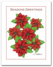 Poinsettia Seasons Greetings