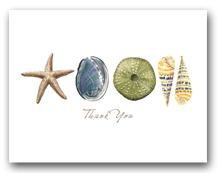 Sea Star Abalone Green Sea Urchin Augers Row Thank You Horizontal