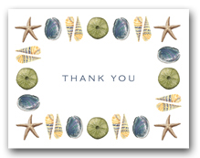 Sea Star Abalone Green Sea Urchin Augers Trim Thank You Horizontal