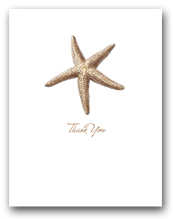 Sea Star Small Thank You Vertical