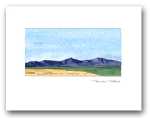 Simple Mountains Desert Landscape Small Horizontal