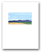 Simple Mountains Desert Landscape View A Small Vertical