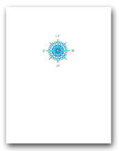 Small Blue Compass Rose