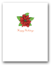 Small Poinsettia Happy Holidays