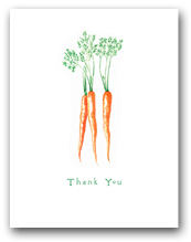 Three Carrot Bunch Thank You