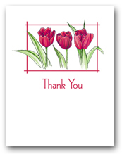 Three Red Tulips Thank You